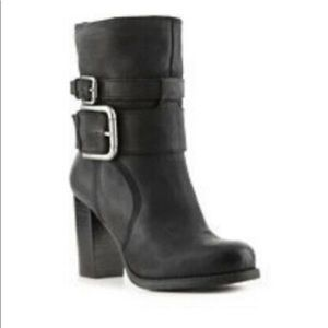 black nine west chana buckle bootie ankle boots